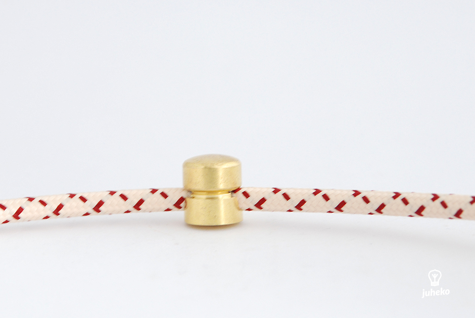Cable wall fixing Mini, brass