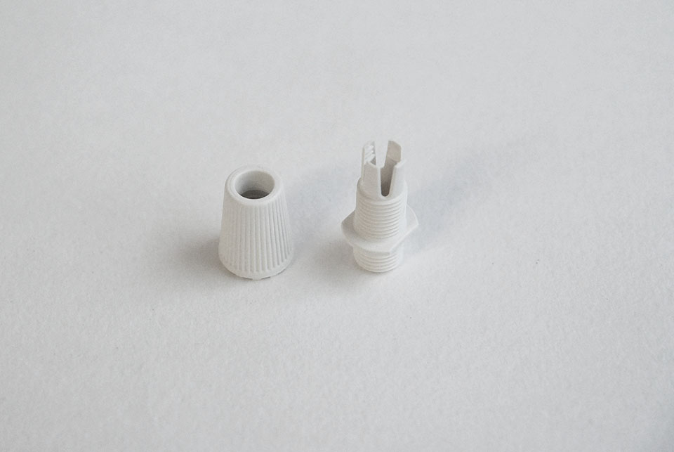 Cable grip, white, type 2