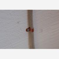 Copper cable clamps, 10pcs, large