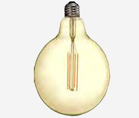 Antiik LED filament muna 125mm, 1240lm