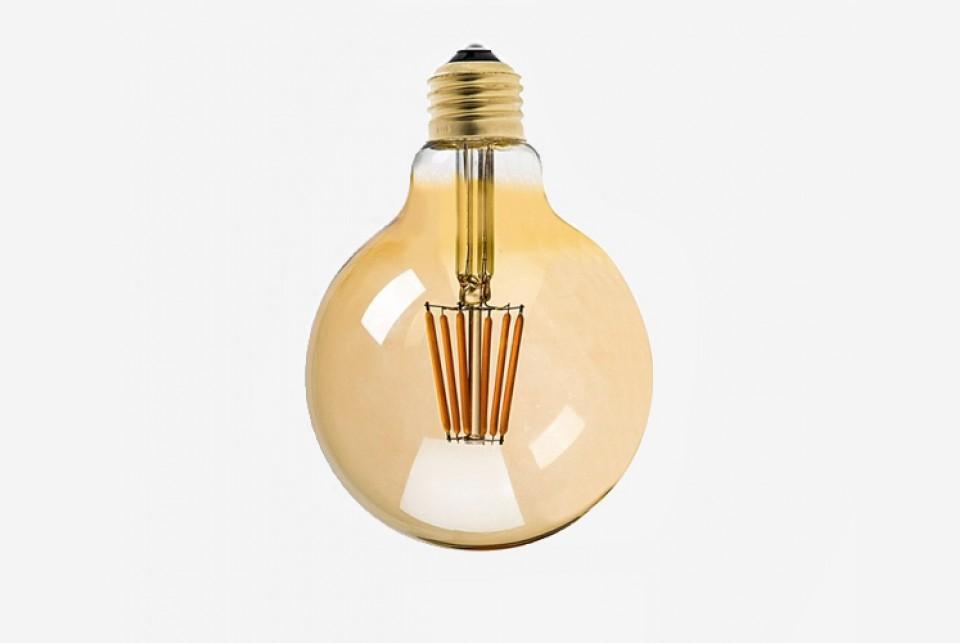 Antiik LED filament muna 95mm, 500lm
