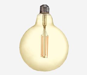 Antiik LED filament muna 125mm, 1250lm
