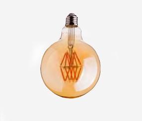 Antiik LED filament muna 95mm, 600lm