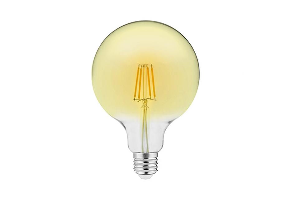 Amber cover  LED filamentglobe  lightbulb 125mm, 400lm