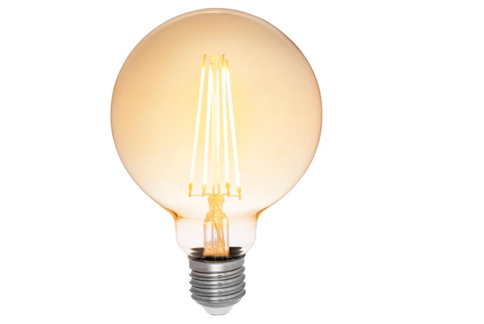 Amber cover  LED filamentglobe  lightbulb 95mm,380lm