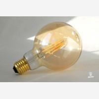 Amber cover  LED filamentglobe  lightbulb 95mm,