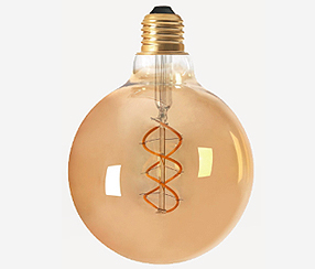 Antiik kaard-LED filament muna 125mm, 300lm, DIM