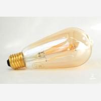 Amber cover LED filament lightbulb, 806lm