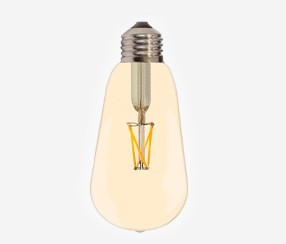 Amber cover LED filament lightbulb, 810lm