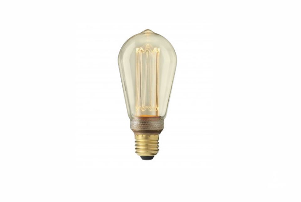 Edison LED E27 vintage style lightbulb, amber glass, 220lm