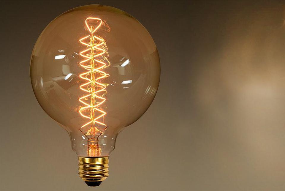 Edison Globe lightbulb, 125 mm