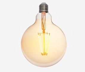 Antiik LED filament muna 125mm, 380lm