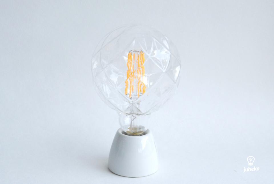 Clear LED cristal globe,  130 mm 100lm