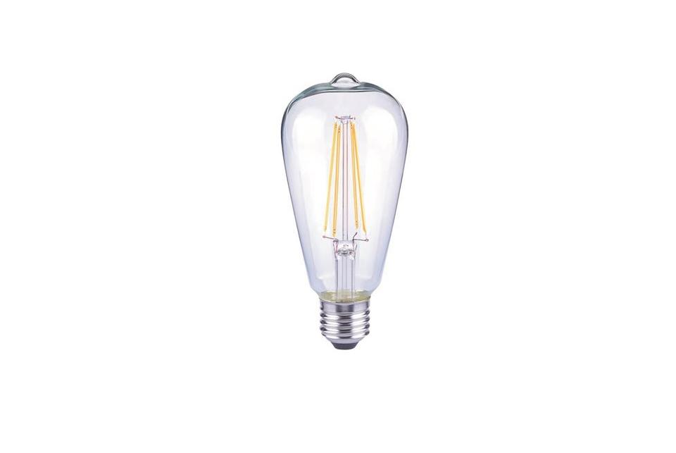 Clear LED filament lightbulb, 500lm