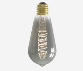 LED Rustik Suitsuklaasiga lambipirn  64mm