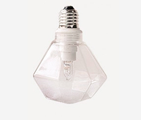 Diamond shaped lightbulb with replaceable G9 halogen