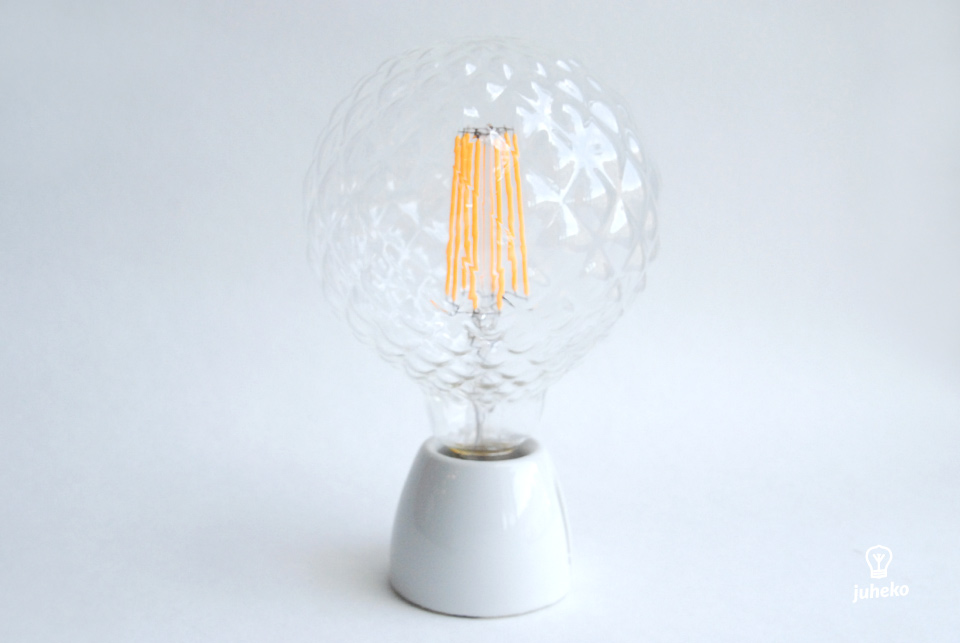 Clear LED bubble globe,  130 mm 100lm