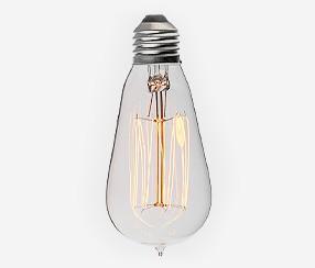 Vēsturiskā Edisona spuldze, caurspīdīga