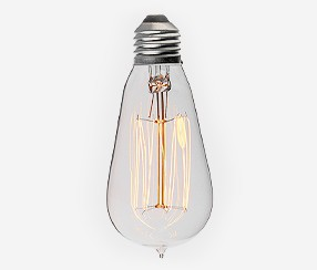 Skaidri edisono istorinė lemputė