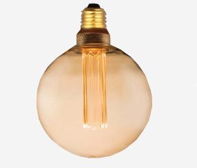 Edison LED lambipirn E27, antiik, 125mm