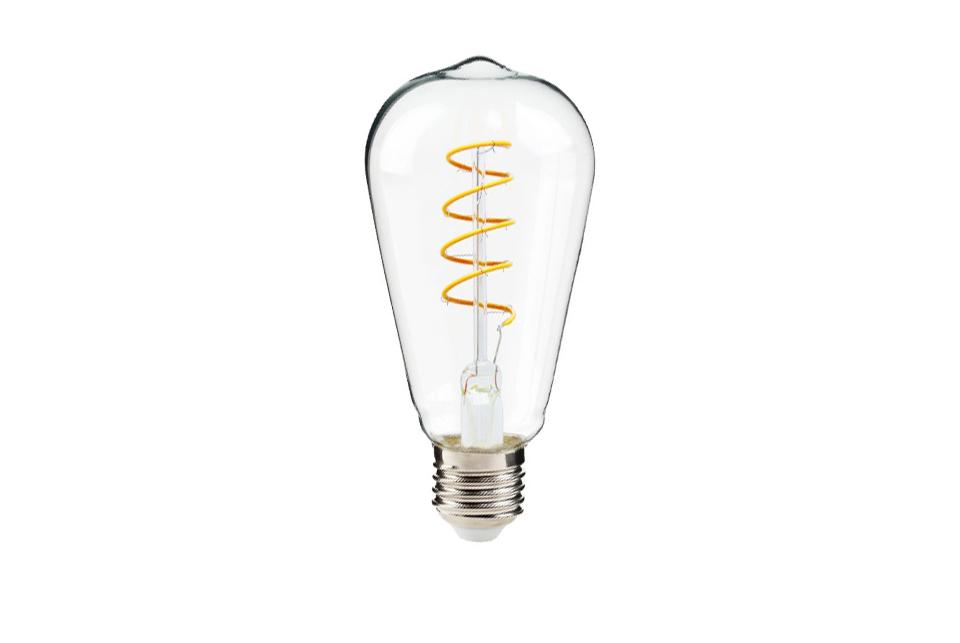 Curved LED filament lightbulb, 300lm