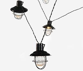 Näyttävä industrial-henkinen lamppusarja