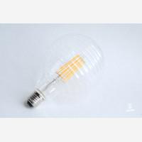 Clear LED line globe,  130 mm 100lm