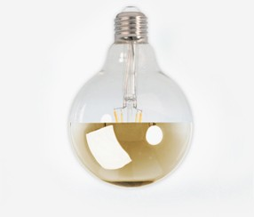 Mirror Led bulb, gold, 95mm 4 W