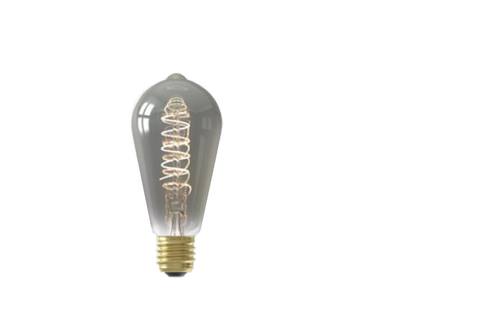 LED smoke glass lightbulb 64mm