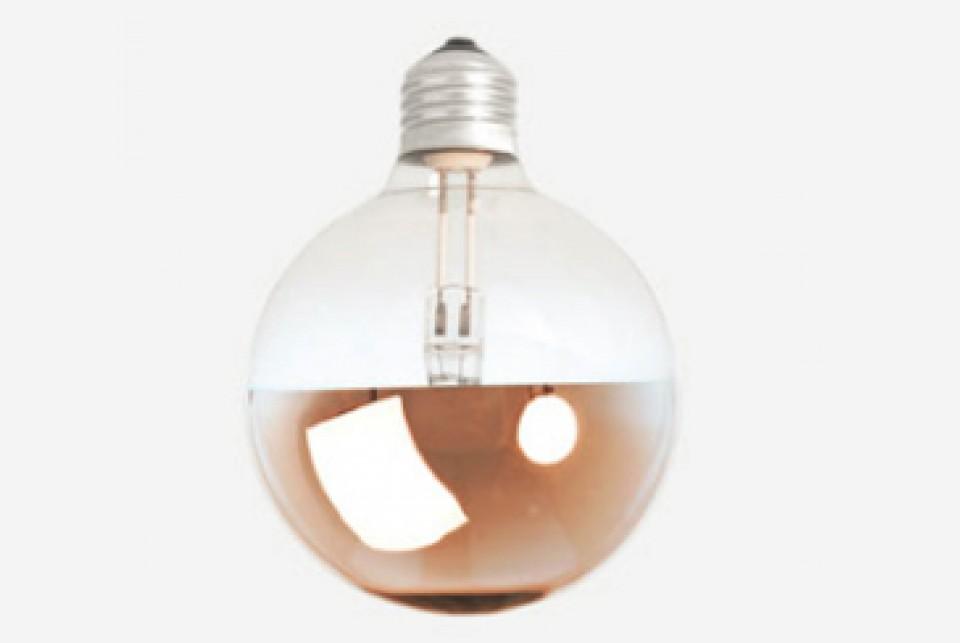 Mirror halogen bulb, bronze, 95mm 42 W