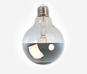 Mirror Led bulb, silver, 95mm 4 W