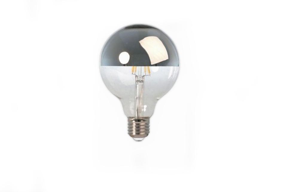 Mirror led bulb, silver, 95mm, 4W