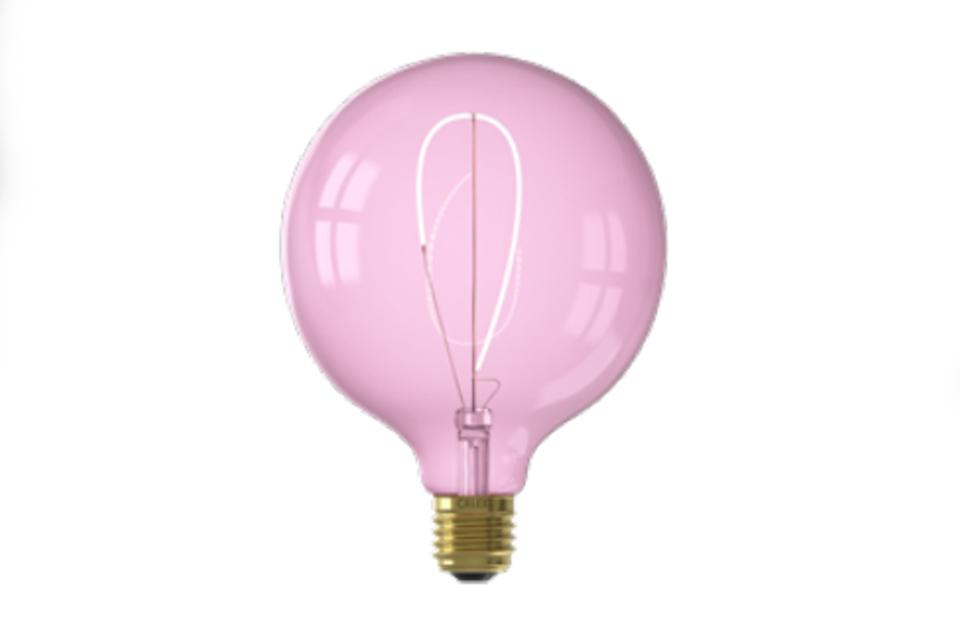 LED lamppu 125 mm, vaaleanpunainen