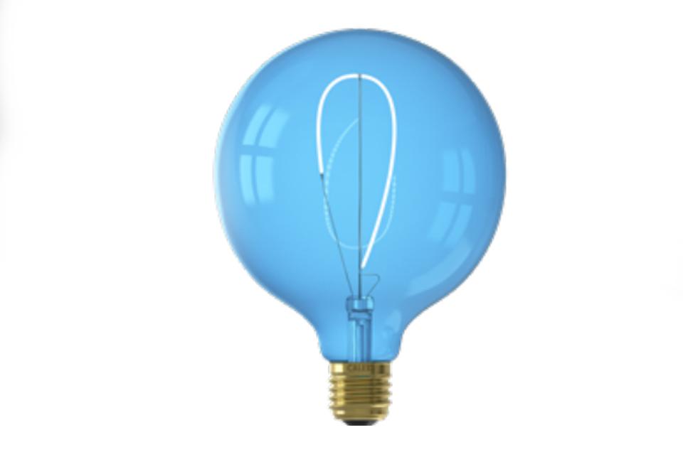 Flexible LED Filament bulb 125 mm, saphire blue