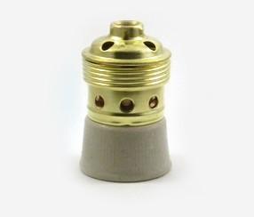 Metallinen + keraaminen lampunpidin E40