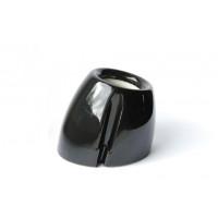 Porcelain bulb holder E27, black