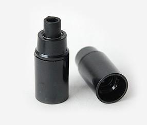 Bakelite lampholder E14, black