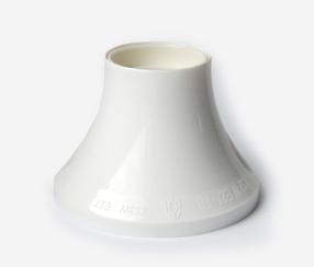 Bulb holder E27 for ceiling/ wall, white