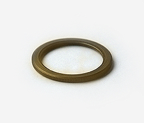 Shade ring for antique lampholders, old brass finish