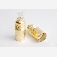 Brass lampholder E14