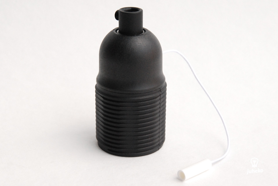 Lampholder with pull switch, E27, with threads