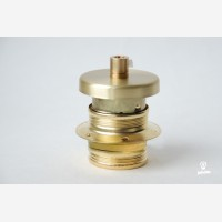 Brass Lampholder with one shade ring and brass cover, earthed