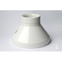 Porcelain bulb holder for ceiling/ wall, E27, white