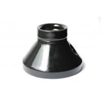 Porcelain bulb holder for ceiling/ Wall, E27, black