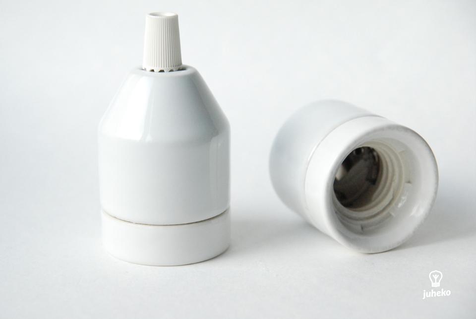 Porcelain glossy bulb holder Klack