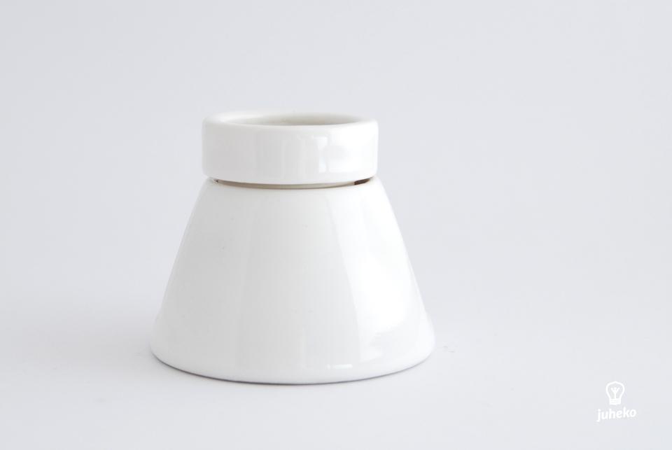 Big porcelain bulb holder for ceiling, E27, white