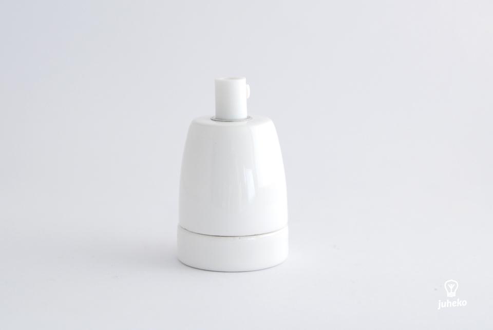 Porcelain glossy bulb holder