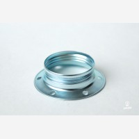 Shade ring for silver lampholder with threads E27