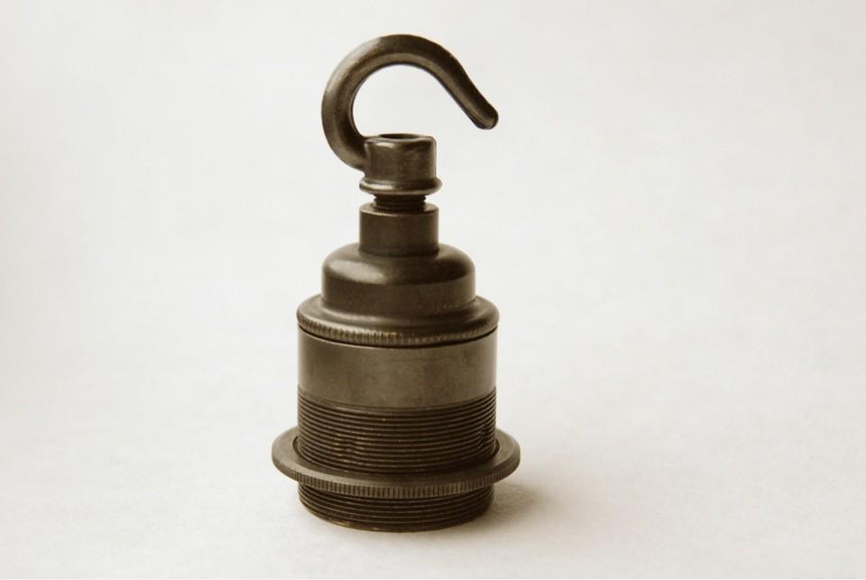 Hook for antique  lampholders old brass finish