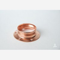 Shade ring for copper lampholder with threads E27